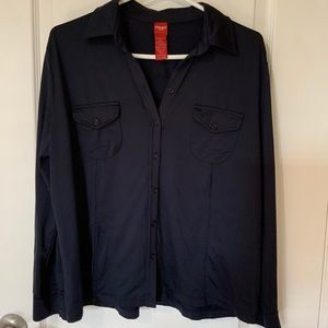 🍁Olsen -Ladies Dark Navy Blue Polyester Blouse.